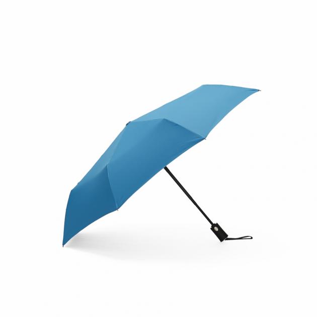 POCKET AUTO時尚仕幔自動折傘-多瑙藍 1