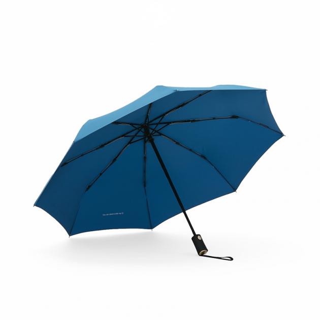 POCKET AUTO時尚仕幔自動折傘-多瑙藍 2