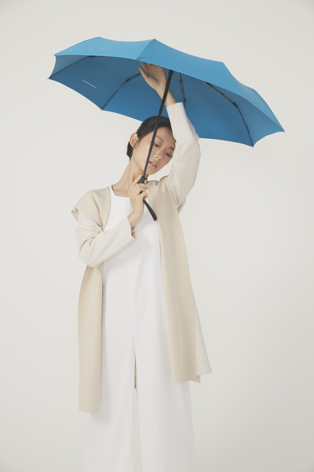 POCKET AUTO時尚仕幔自動折傘-多瑙藍 3